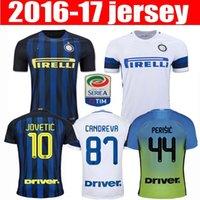 La calidad de Tailandia 16-17 Inter Milán Fútbol 2016 JOVETIC hogar lejos blancas camisetas de ICARDI PALACIO Kondogbia