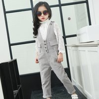 bib overalls girl - 2016 Fashion style children clothes girls corduroy pants kids pants Bib Overalls pants spaghetti strap Hollow jumpsuits Korean version loose