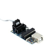 Wholesale AVR USB Tiny ISP Programmer Module USB Download Interface Board with Pin Programming Cable For Arduino