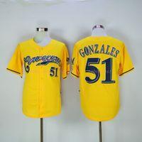 american brewers - milwaukee brewers alex gonzalez yellow Cheap American Baseball Jerseys mens women kids Stitched Jersey