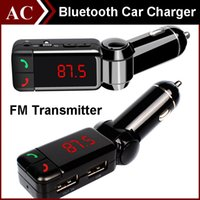 Wholesale BC06 Bluetooth MP3 Radio Player Handfree FM Transmitter Modulator Car Charger Wireless Kit Support Hands free Micro SD TF Card U Disk DHL