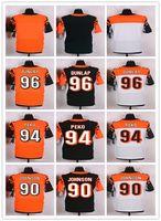 Wholesale Men s Cincinnati and Bengals Geno Atkins Elite Orange Alternate Carlos Dunlap White Domata Peko Black Jersey