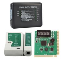 Wholesale Universal PC Computer Network Test Kit Motherboard POST Analyzer Cable Computer Power Supply Tester Networking Tools NET_00G
