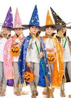 Wholesale cloak Cape With Hat Cheap Children s Halloween costume cloak witch witch five star cloak wizard cloak