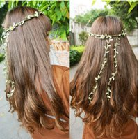 Wholesale 20m Artificial Green Flower Leaves Rattan DIY Garland Accessory For Home Decoration hairbands headband hairflowers party hot