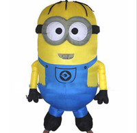 Wholesale Party Inflatable Adult Minion Costume Halloween costume for women Despicable Me Mascot boys girls fancy dress