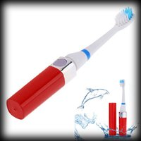 Wholesale by dhl or ems High Quality Fashionable Rechargeable Ultrasonic Electric Toothbrush With Brush Heads