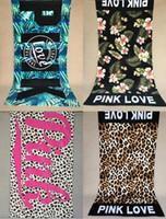 venda por atacado toalhas de banho-2016 Moda nova chegada VS segredo sexy rosa exclusivamente toalha de banho da praia do algodão das mulheres 75 * 145cm Frete Grátis