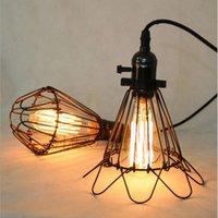 antique ship lamps - Classical vRetro Pendant Lamp for E27 Edison Bulb Loft Vintage Antique cage Indoor Lamp