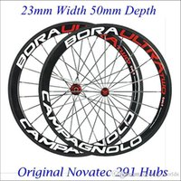 Wholesale Full Carbon Fiber Wheelset Road Bike Wheels Clincher Tubular Depth mm Carbon Rims Novatec Hubs Cycling Wheel K Glossy Matt
