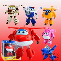 airplane wings - 15cm ABS Super Wings Deformation Airplane Robot Action Figures Super Wing Transformation toys for children gift b257