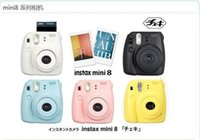 Wholesale Fujifilm Instax Mini Pink Black Blue Yellow White Grape Raspberry Fuji Instant Camera with