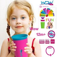 Wholesale Multi style Color Options Wow Cup for Kids with Freshness Lid Spill Free Drinking Cup Baby Magic Cup baby lovely cup