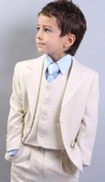 Wholesale Custom Made Kid Notch Collar Children Wedding Suit Boys Attire Boy s Formal Wear Suits Three Piece Kid Suit Jacket Pants Tie Waistcoat G970