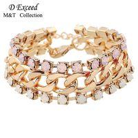Wholesale Fashion Adjustable Double Heart Bangle New Simple Design Shining Rhinestone Bracelet Classic Jewelry Women Bangles