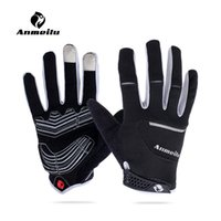 baseball glove padding - Anmeilu Unisex Cycling Gloves Touchscreen Full Finger Motocross Gloves Windproof MTB Road Bike Gloves Gel Pad Breathable Elastic