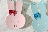baby shower room decoration - Bunny Garland Rabbit Garland for Kids Room Babies Room Decor First Birthday Party Baby Shower Nursary Wall Hangings Decoration