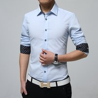 Wholesale New Arrived mens work shirts Brand Long sleeve striped twill men dress shirts white male shirts xl colors