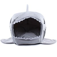 bags winter hat - 2016 Size Pet Products Warm Soft Dog House Pet Sleeping Bag Shark Dog Kennel Cat Bed Cat House cama perro