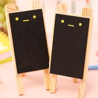 Wholesale 8 Small blackboard Mini pizarras Cute rabbit black board Wooden chalkboard zakka office accessories school supplies