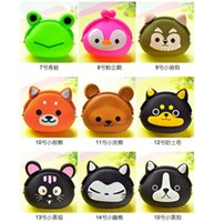 Wholesale Animals Girls Silicone small mini Coin Bag mini Coin Purses wallet purse women key wallet coin Wallet Children Kids Gifts