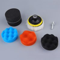 Wholesale 7pcs Gross Polishing Buffing Pad Kit for Auto Car Polishing Wheel Kit Buffer With Drill Adapter Hot Selling