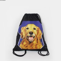 beam bags - Original draw string backpack The cat gym bag men and women Golden retriever dog rope bag lovers beam mouth bags