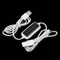 usb net link cable - High Speed USB PC To PC Online Share Sync Link Net Direct Data File Transfer Bridge LED Cable Easy Copy Between Computer