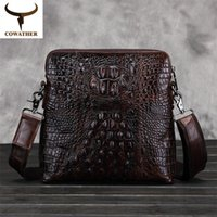 best choice coffee - Alligator Men messenger bags cow genuine leather luxury most popular for male business travel best choice