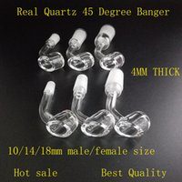 Wholesale 10 mm mm degree thick club banger quartz nail Honey Bucket Tip for water smoking pipe titanium ceramic nail Glass bong BONGS