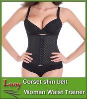 Wholesale S XXXL Women High Latex Rubber Waist Trainers Waist Training Belt Kim Waist Training Belt Underbust Corset Body Shaper Shapewear