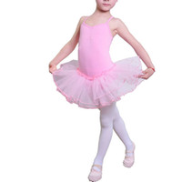 Wholesale Children Girls Cotton Ballet Dance wears Harness Underwear One Piece Kids Cosplay Costumes With Tutu Mesh Skirts Dance Dresses