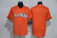 base retail - New Arrival Miami Marlins Firebrick Cool Base Jersey Orange Blank Baseball Jerseys and Retail