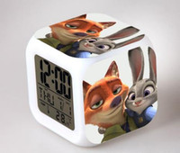Wholesale hot zootopia Judy nick colorful color creative small alarm clock alarm clock kids gift toy