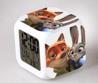antique clock radio - hot zootopia Judy nick colorful color creative small alarm clock alarm clock kids gift toy
