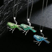 animals lists - New products listed fashion jewelry Silver plated noctilucence birdie pendant necklaces