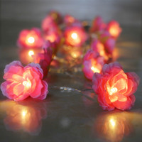 batteries operated candles - Battery operated DIY m Flower Garland Lamp Led twinkle light flowers Christmas wedding festival lights For Home Decoration