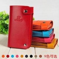 Wholesale Fashion Soft Pu Leather ID Credit Bank Card bag Casual Card Holders for Woman Female Male Gift Famous Brand Logo