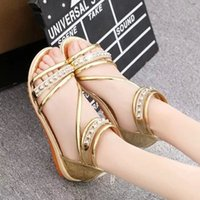 band saliva - Sandals summer new Korean version of women s fashion sandals round shallow saliva drill female sandals now hot