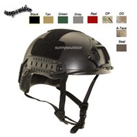 Wholesale Outdoor Sport Equipment Airsoft Paintabll Shooting Helmet Head Protection Gear ABS Simple Version MH Fast Tactical Helmet