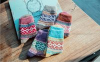 Wholesale New style woman wool thick socks woman casual socks warm socks striped socks woman winter socks LA18
