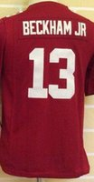 Wholesale Youth NIK Game Football Stitched Giants Blank Manning Simms Beckham Jr Taylor Red White Blue Jerseys top
