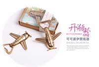 Wholesale Fast Shipping Wedding favor quot Let the Adventure Begin quot Airplane Bottle Opener party souvenir Party gifts