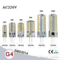 Ampoule à maïs G4 SMD3014 AC110-220V 3W / 4W / 5W / 6W / 9W / 10W Remplacer 15W- Lampe halogène 80W Lampe à rayons 360 mm