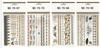 Wholesale The Design of the Feather of the Flash Tattoo Gold Temporary Tattoo of the Flash Stickers of Men and Women Sexy Variety of Choice of Tattoo