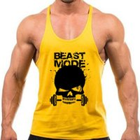 Wholesale Men Gym Stringer Tank Top Mens Gymshark Bodybuilding Fitness Mens Singlets GYM Tank Shirts Sports Clothes Muscle Vest Sleeveless