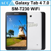 Precio de Dhl de la tableta de 8 gb-Remanufacturado Original Samsung Galaxy Tab 4 7.0 SM-T230 T230 7.0 pulgadas Quad Core 1.5 GB RAM 8 GB ROM Wifi 3.0MP Cámara Android Tablet DHL 5pcs