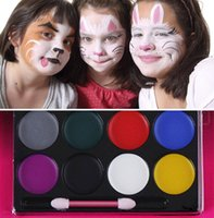face paint - Face Body Painting Halloween Color Oil Painting Art Make Up Tools Face Paint Palette Fancy Painting Kit Set KKA801