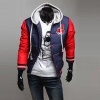 baseball uniform hats - Fall winter cross season sale personality chief sign men s hooded baseball uniform coat P80