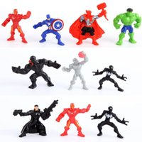 Wholesale New set Marvel The Avengers Super Heroes Mini Action Figures Toys Captain American Ironman Superman Hulk Spiderman Pvc Toy